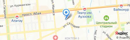 Динар на карте Алматы