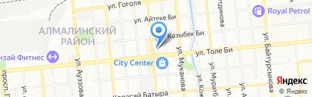 Нотариус Тагибаев Т.Д. на карте Алматы
