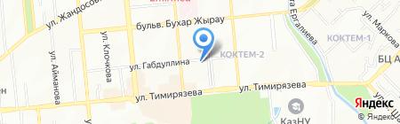 Клиника мануальной медицины на карте Алматы
