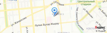 КазНур на карте Алматы