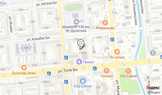 MiaPizza. Схема проезда в Алматы