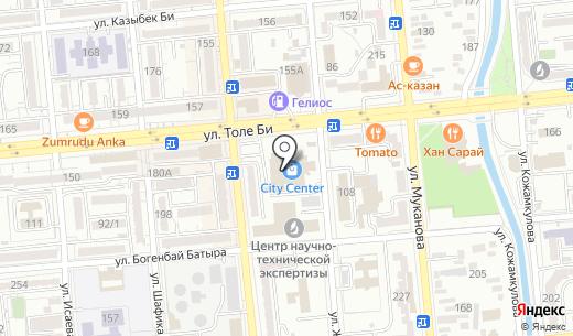 Tomato. Схема проезда в Алматы