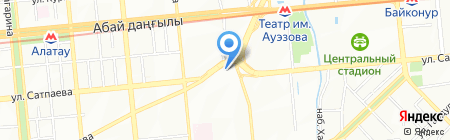 Бостандыкский районный отдел занятости и социальных программ на карте Алматы