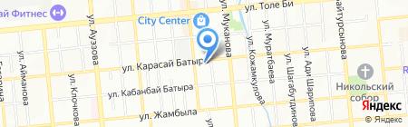 Магазин нижнего белья и косметики на карте Алматы