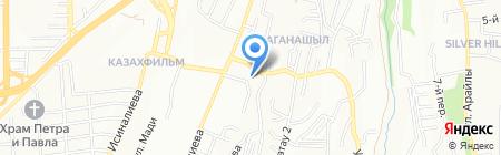 Ирису на карте Алматы