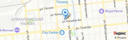 Акикат на карте Алматы