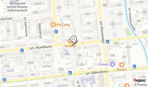 Дауыс. Схема проезда в Алматы