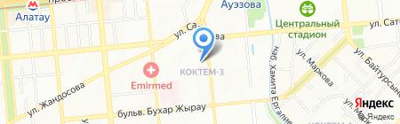 Домино на карте Алматы