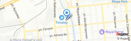 Сеть магазинов на карте Алматы