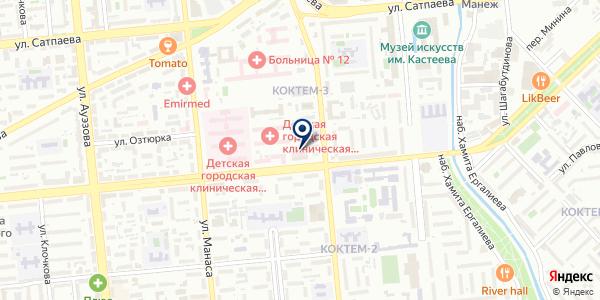 Керуен-Medicus на карте Алматы