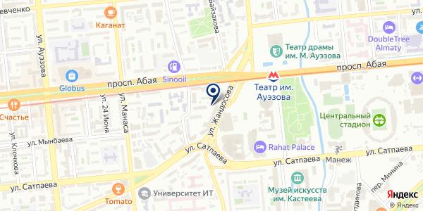 Бюрократ Алматы, ТОО на карте Алматы