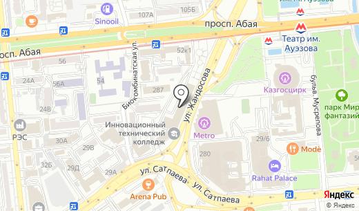 Sound Service. Схема проезда в Алматы