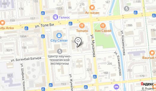Центр мастеров. Схема проезда в Алматы