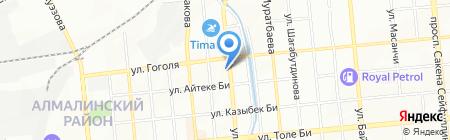 Весна жилой комплекс на карте Алматы
