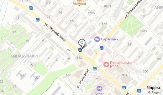 Агайын. Схема проезда в Алматы