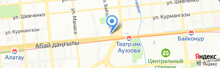 Ак Санат на карте Алматы