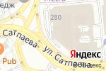 Схема проезда до компании Оджахури в Алматы