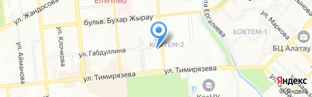 Стекольный цех Ворфоломеевой на карте Алматы