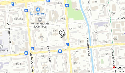 АТФ Банк. Схема проезда в Алматы