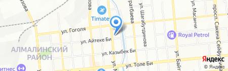 Tupperware сеть дистрибьюторских центров на карте Алматы