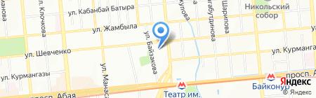Республиканская школа-интернат для одаренных в спорте детей им. К. Ахметова на карте Алматы