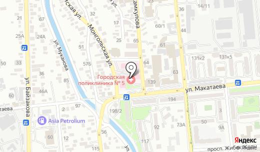 Планета 03. Схема проезда в Алматы