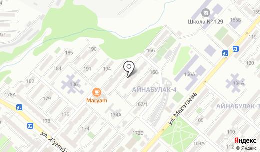 Афган. Схема проезда в Алматы
