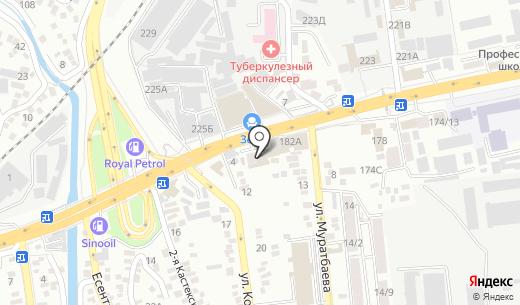Shell. Схема проезда в Алматы