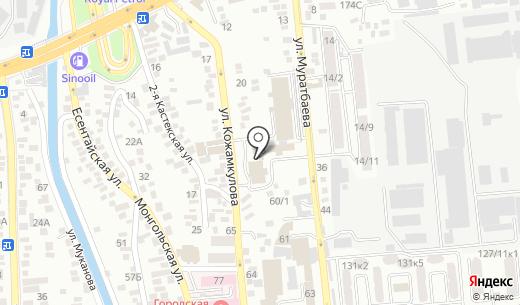 РД print. Схема проезда в Алматы