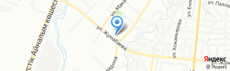 Евразийский Банк на карте Алматы