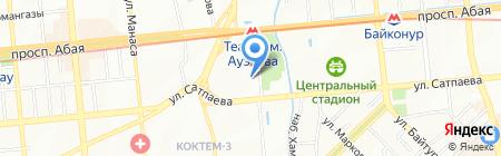 Пятёрка на карте Алматы
