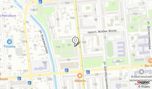 Зрение. Схема проезда в Алматы