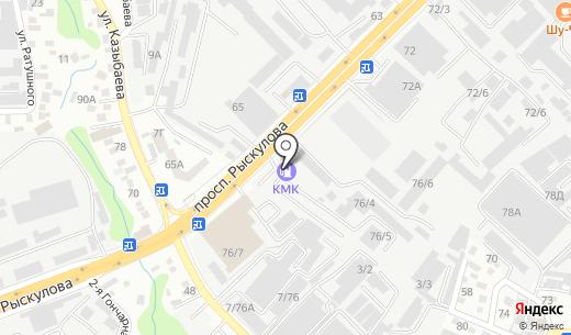ЫРЫСАЛДЫ-1. Схема проезда в Алматы
