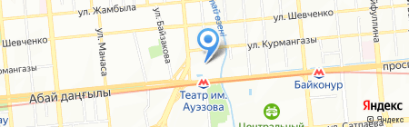 Музей казахского академического драмтеатра на карте Алматы