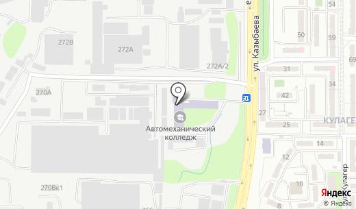 Алматинский автомеханический колледж. Схема проезда в Алматы