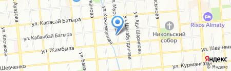 Шиномонтажная мастерская на ул. Муратбаева на карте Алматы