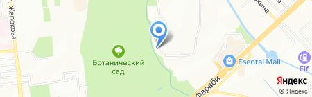 Ер-Тельман на карте Алматы