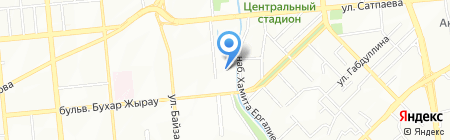 Школа-гимназия №51 на карте Алматы
