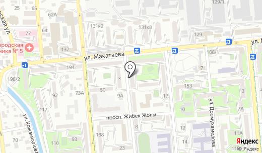 Ариадна. Схема проезда в Алматы