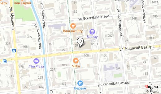 Банкомат Altyn Bank. Схема проезда в Алматы