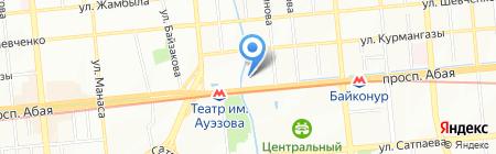 Жас Отау на карте Алматы
