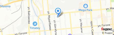 СВ на карте Алматы