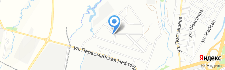 Продовольственный магазин на ул. Кокжиек микрорайон на карте Алматы