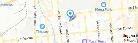 Алматы Верный Транзит на карте Алматы