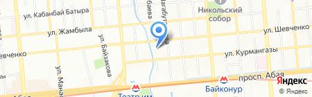 КазУМОиМЯ на карте Алматы