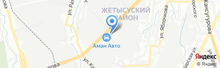 Транс Тахограф Жетысу ТОО на карте Алматы
