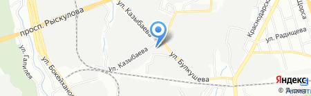 Акатур на карте Алматы