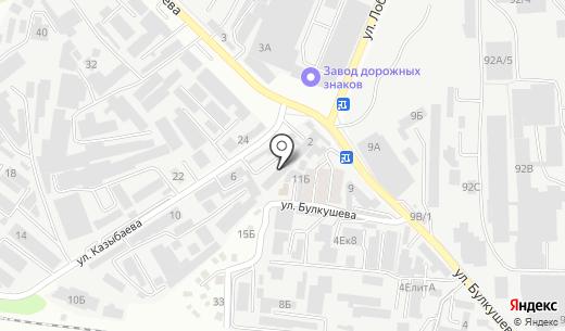 Идан. Схема проезда в Алматы