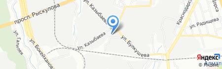 Сауна на ул. Булкушева на карте Алматы