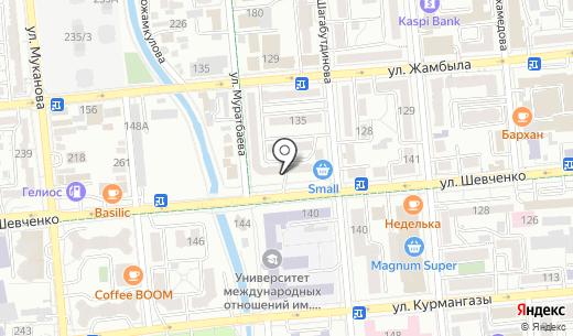 MasterSite. Схема проезда в Алматы